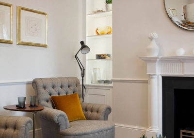 Penman Interiors Chelsea London Living Room Armchair Alcove
