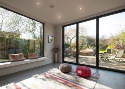 Penman Interiors Dulwich London Garden Room Bi-fold Doors Picture Window
