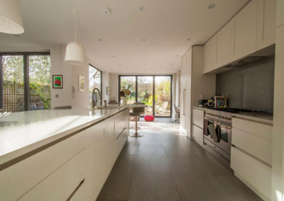 Penman Interiors Dulwich London Kitchens White Grey Tiles